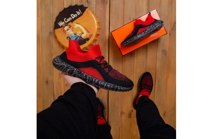 Мужские кроссовки  Вонекс Лавар (черно-красные)