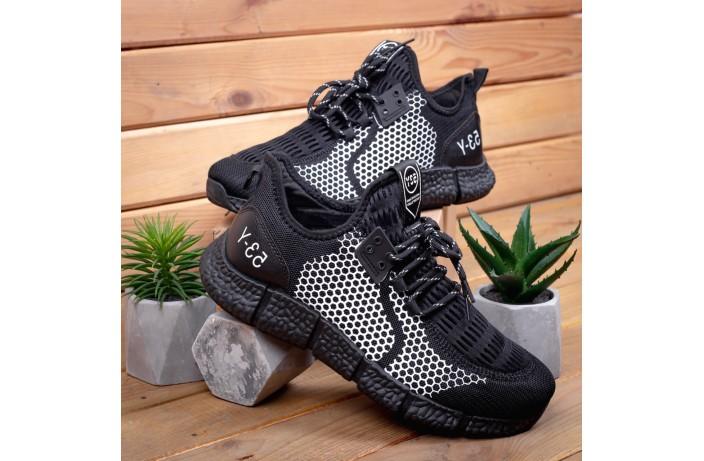Мужские кроссовки Вервольф (черные с белой вставкой)