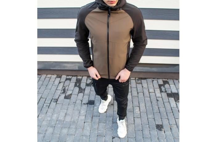 Мужская куртка Valeriyskaya stal' (хаки-черная)