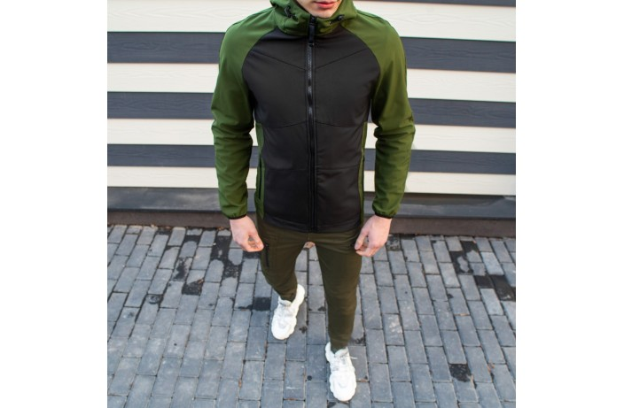Мужская куртка Valeriyskaya stal' (зелено-черная)