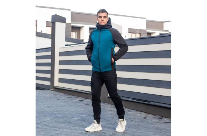 Мужская куртка Valeriyskaya stal' (черно-синяя)