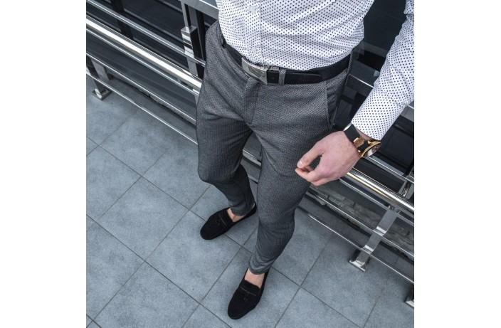Мужские демисезонные штаны '100%' (елочка)