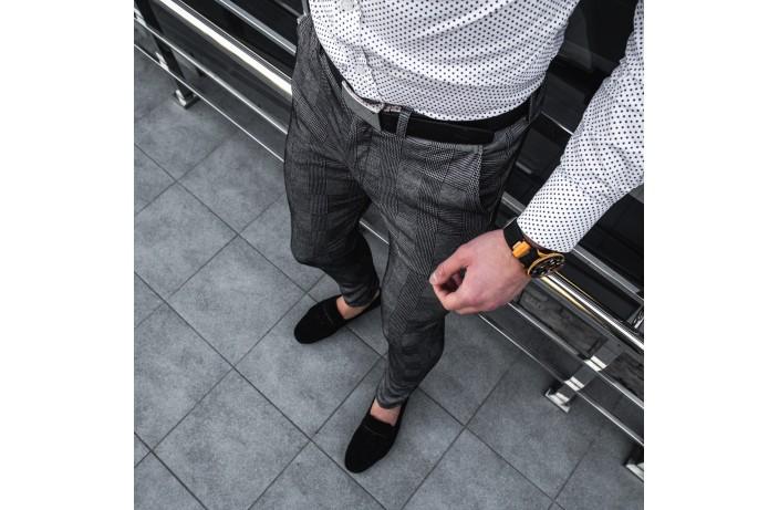 Мужские демисезонные штаны '100%' (большая клетка)