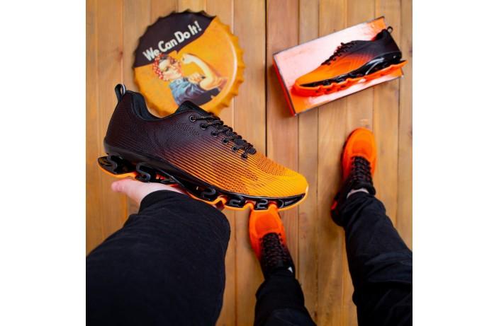 Мужские кроссовки Ривал УПЛ  (черные с оранжевым)