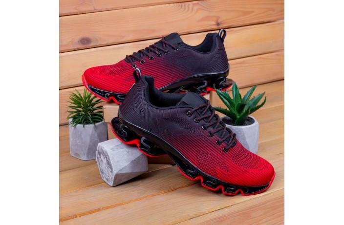 Мужские кроссовки Ривал УПЛ  (черные с красным)