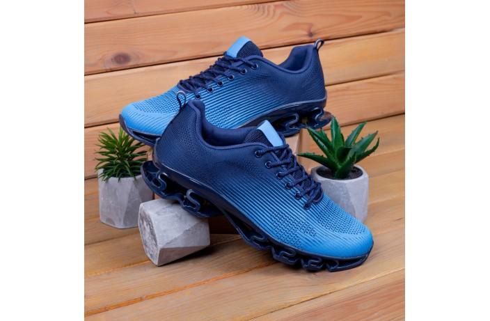 Мужские кроссовки Ривал УПЛ  (черные с голубым)
