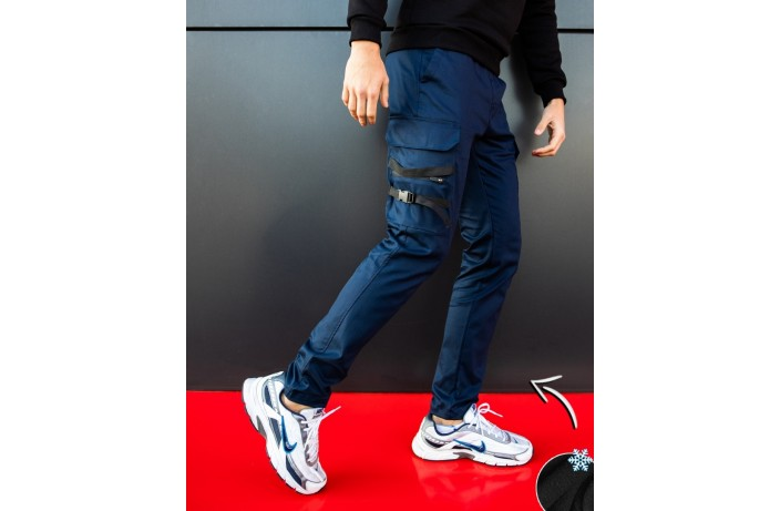 Мужские штаны зимние 'Mezhigorye zimniye' (синие)