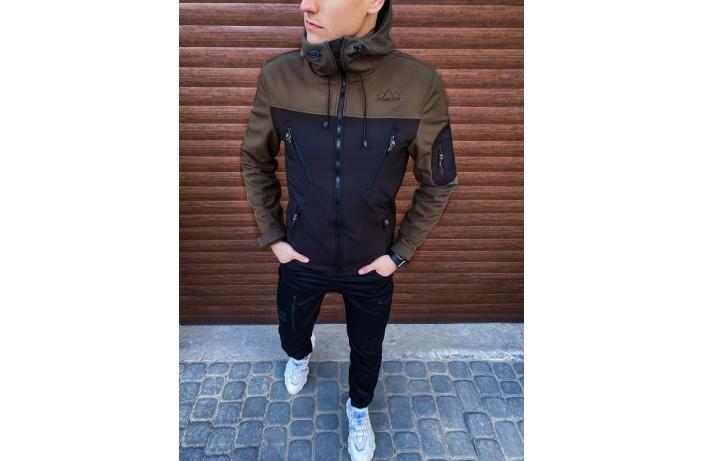 Мужская куртка Korol' Lev (вставка хаки)