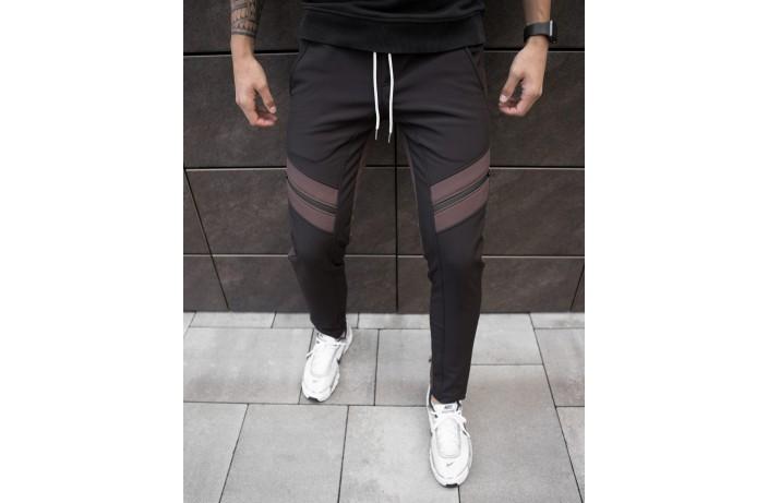 Мужские зимние штаны Soft Shell 'San Andreas' (черно-коричневые)