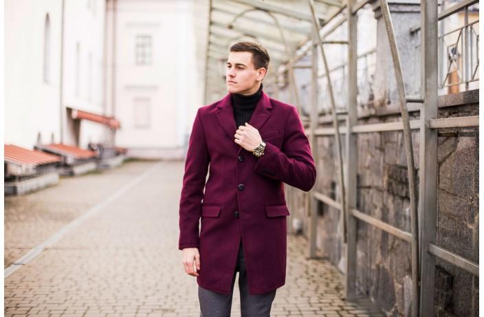 Мужское пальто BATYA (бордовый)