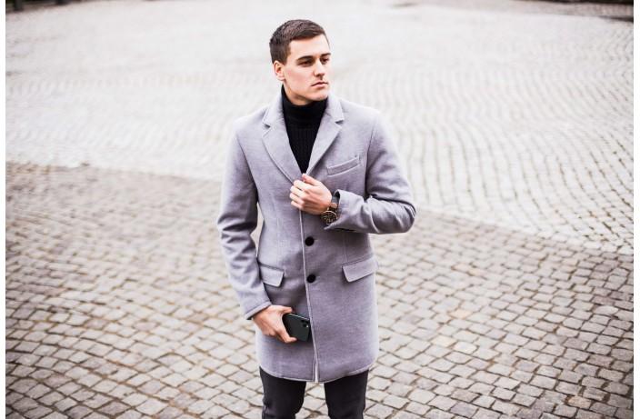 Мужское пальто BATYA (серый)