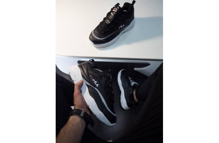 Мужские кроссовки Рэй (черные с белой подошвой)