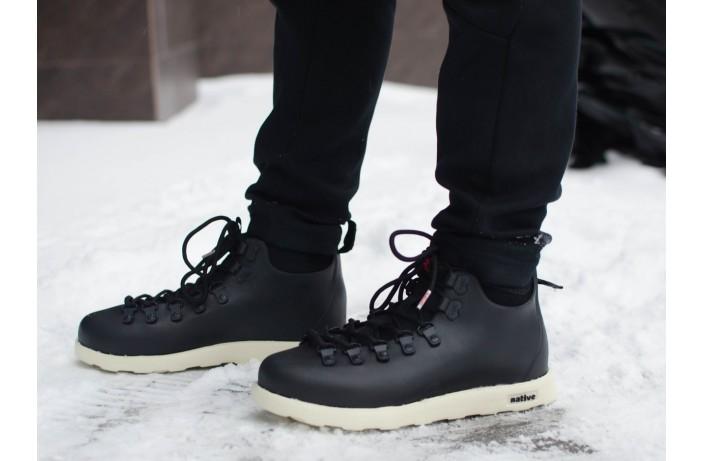 Мужские кроссовки Нейтив (черные с белым)