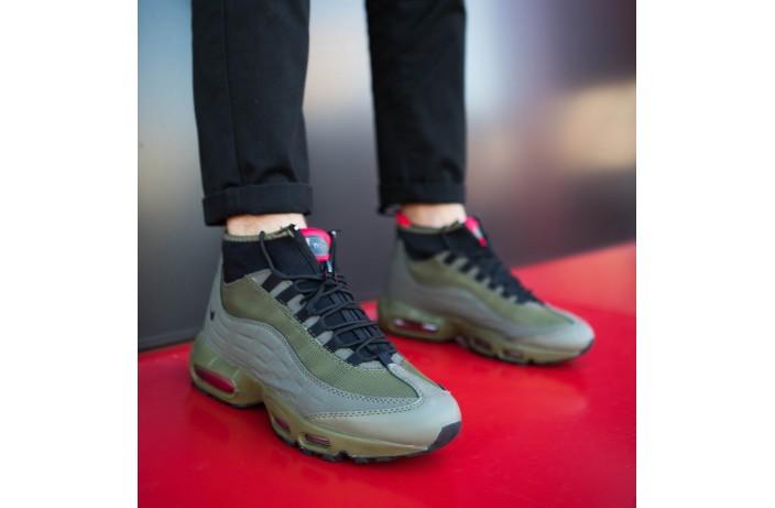 Мужские кроссовки Макс 95 высокие (хаки)
