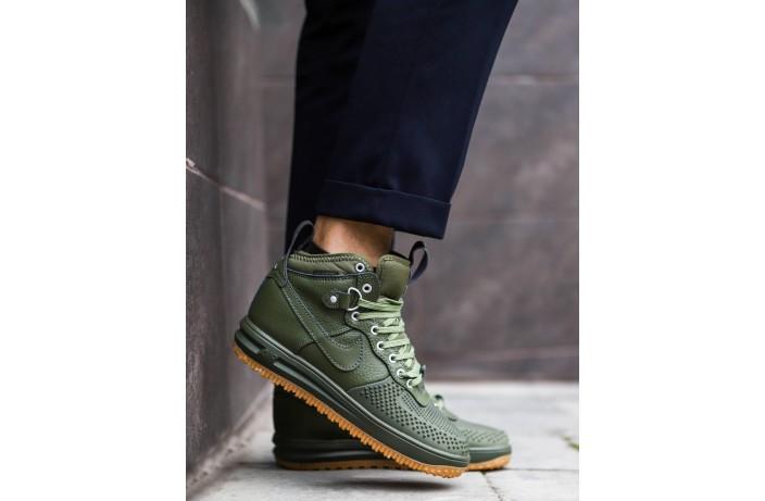 Мужские кроссовки Дак Бутс высокие (зеленые)