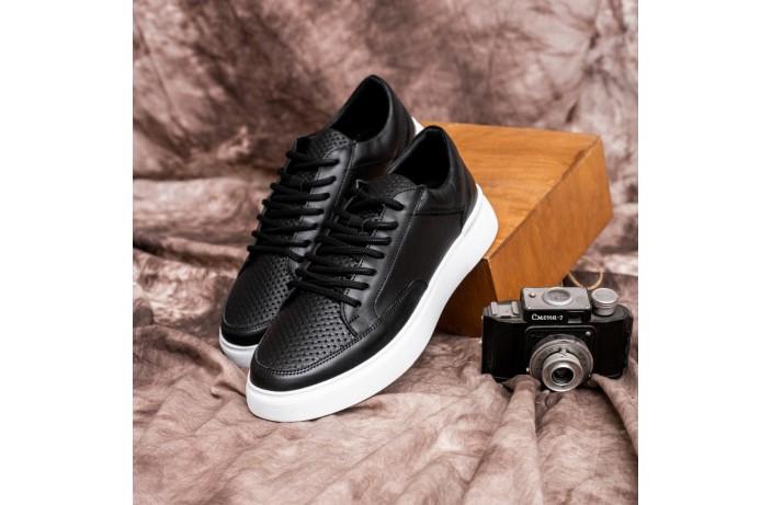 Мужские кроссовки Форест (черные с белой подошвой)