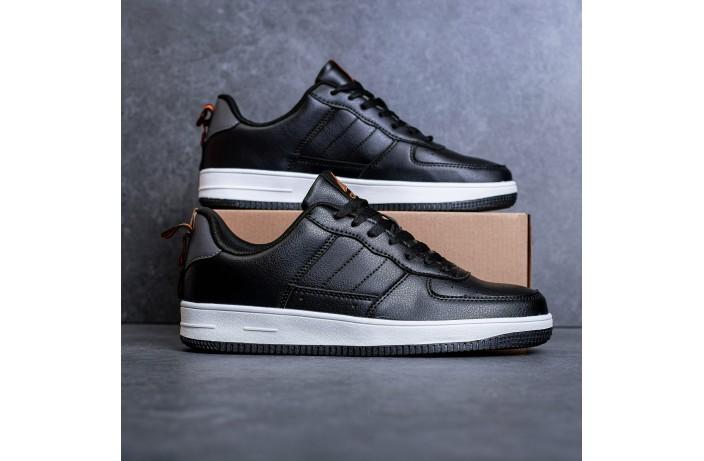 Мужские кроссовки Стилли форс Тресс (черные с белой подошвой)