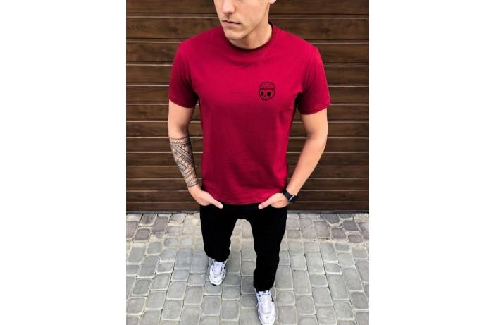 Мужская футболка Peremoga Сherep (бордовая)
