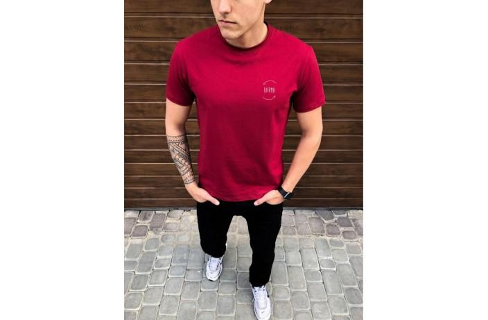 Мужская футболка Peremoga -Karma (бордовий)
