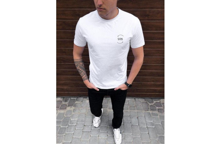 Мужская футболка Peremoga -Karma (белая)