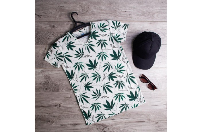 Мужская футболка Cannabis (белая)