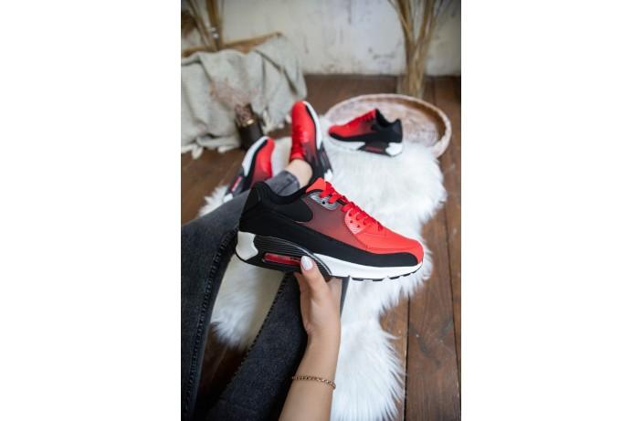 Женские кроссовки Ривал 90 (черно-красные)