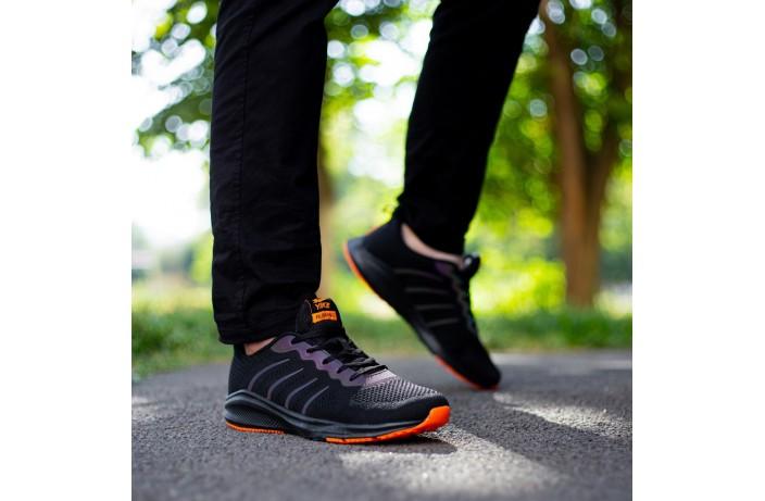 Мужские кроссовки Яик Заир рефлект (черные)