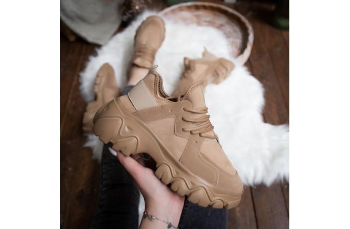 Женские кроссовки Стилли Маня (коричневые)