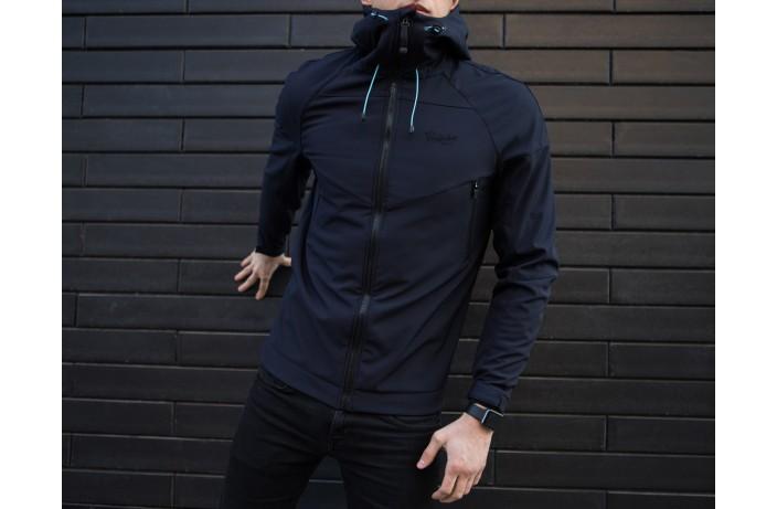 Мужская куртка Soft Shell (темно-синяя)