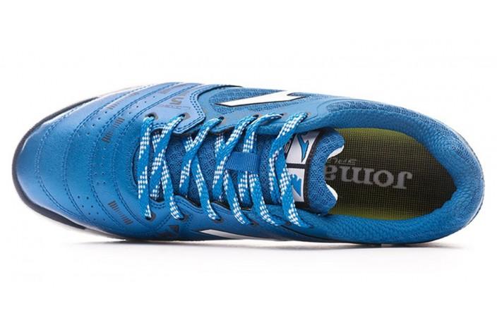 Обувь для зала (футзалки, бампы) голубая Joma LIGA 5