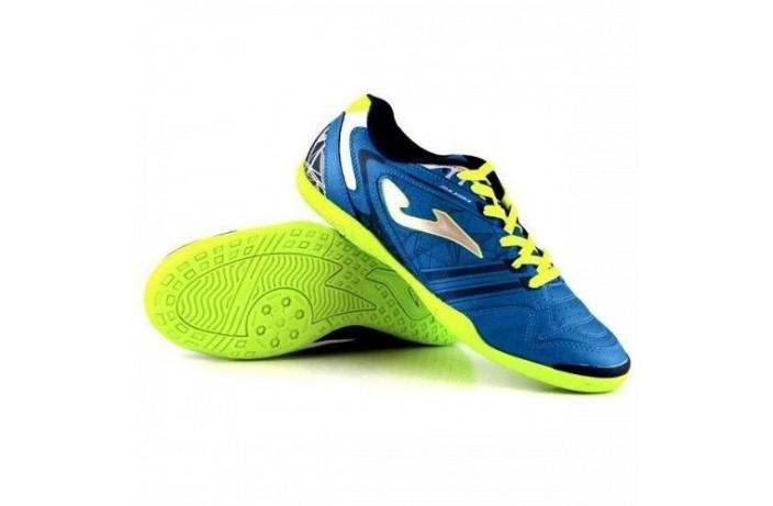 Обувь для зала (футзалки, бампы) сине-салатовые Joma MAXIMA