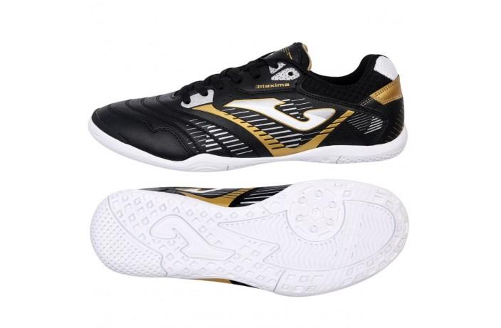 Обувь для зала (футзалки, бампы) черно-белые Joma MAXIMA