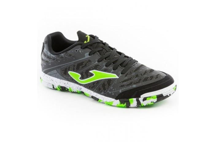 Обувь для зала (футзалки, бампы) черно-салатовые Joma SUPER REGATE