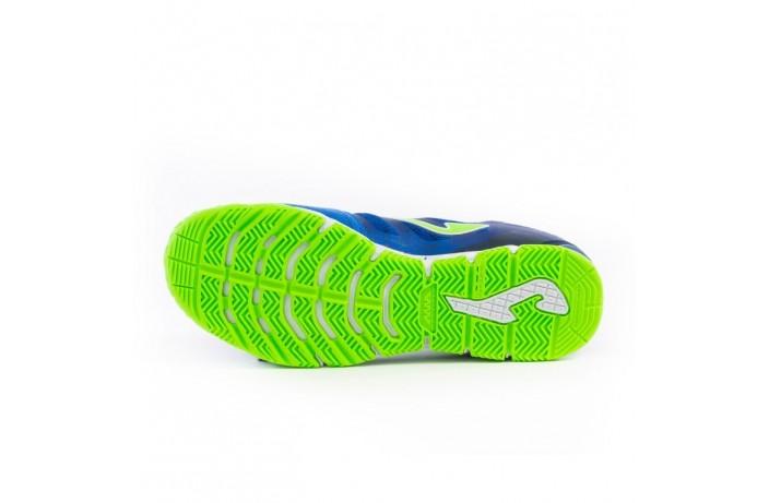 Обувь для зала (футзалки, бампы) сине-салатовые Joma SUPER REGATE