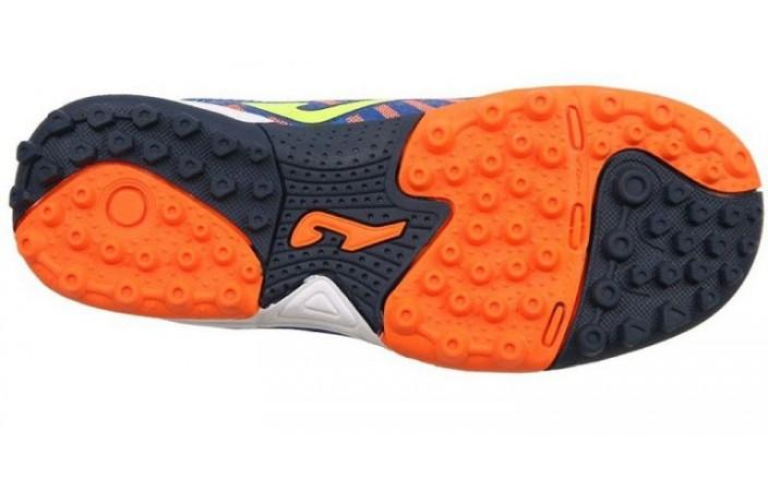 Сороконожки детские (шиповки, многошиповки) сине-оранжевые Joma TACTIL