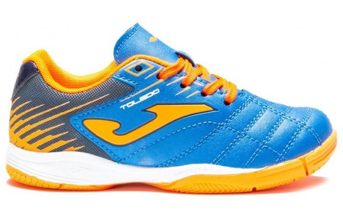Обувь для зала детская (футзалки, бампы) голубая Joma TOLEDO