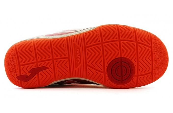 Обувь для зала детская (футзалки, бампы) красная Joma TOP FLEX