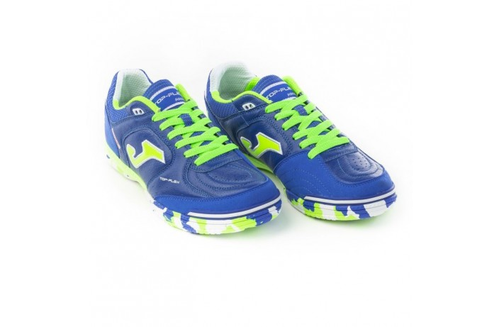 Обувь для зала (футзалки, бампы) синяя Joma TOP FLEX