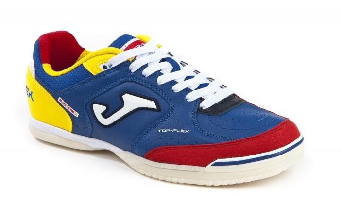 Обувь для зала (футзалки, бампы) сине-желтая Joma TOP FLEX