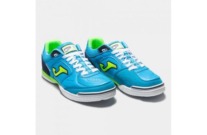 Обувь для зала (футзалки, бампы) голубая Joma TOP FLEX
