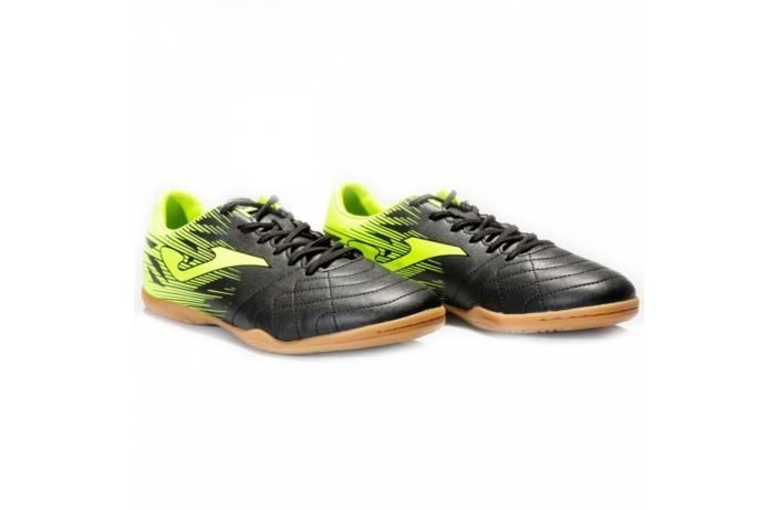 Обувь для зала (футзалки, бампы) черно-зеленая Joma VULCANO
