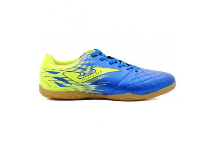 Обувь для зала (футзалки, бампы) сине-салатовая Joma VULCANO
